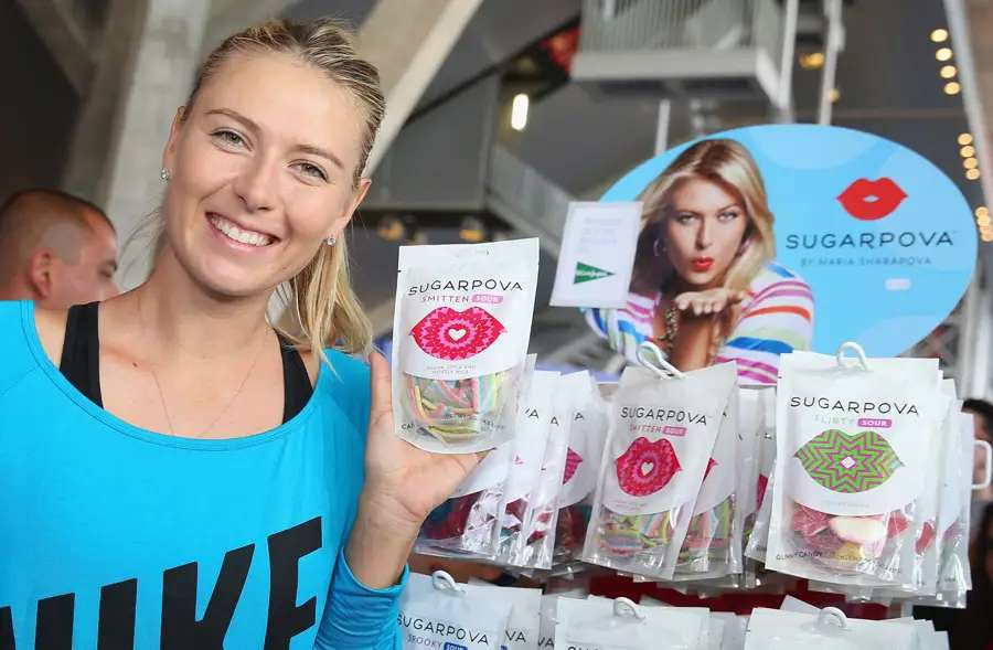 Last year she launched a candy company called Sugarova. It sells gum balls shaped like tennis balls, and other sweets