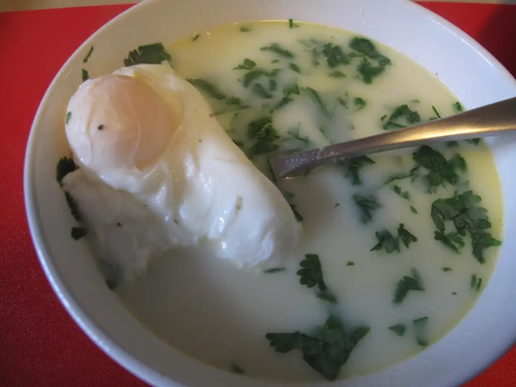 COLOMBIA: A traditional breakfast in Bogota is changua, a milk, scallion, and egg soup.