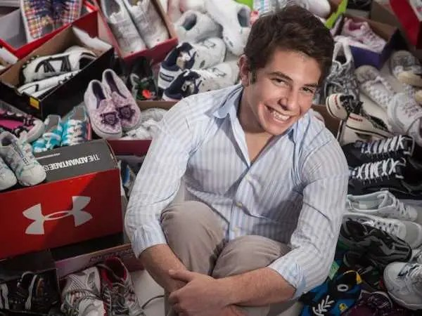 Jacob Rice started an organization that outfits underprivileged kids with new shoes.
