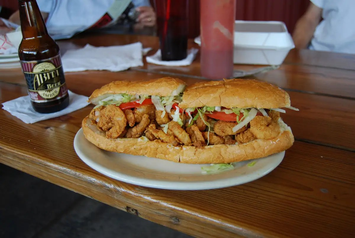 LOUISIANA: Sit down with a po'boy sandwich stuffed with fried catfish, oysters, soft-shell crab, or even alligator.