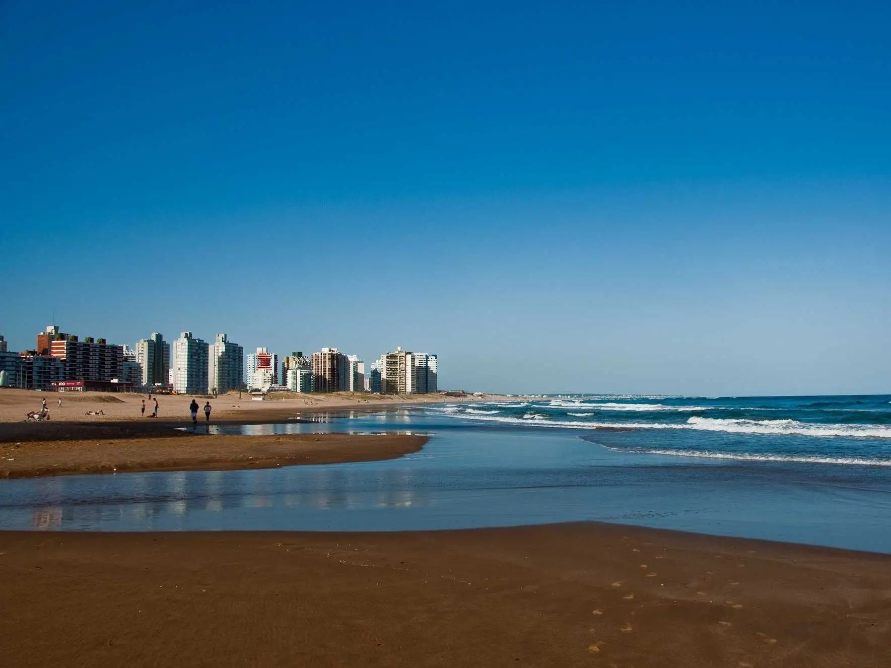 Playa de los Ingleses in Punta del Este, Uruguay, is known as one of the best party beaches in South America. It's also great for strolling along the miles of soft, sandy coastline.