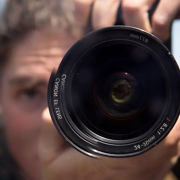 Matthew's favorite lens, Canon 24 - 70, 2.8. Arguably the workhorse of combat correspondents.