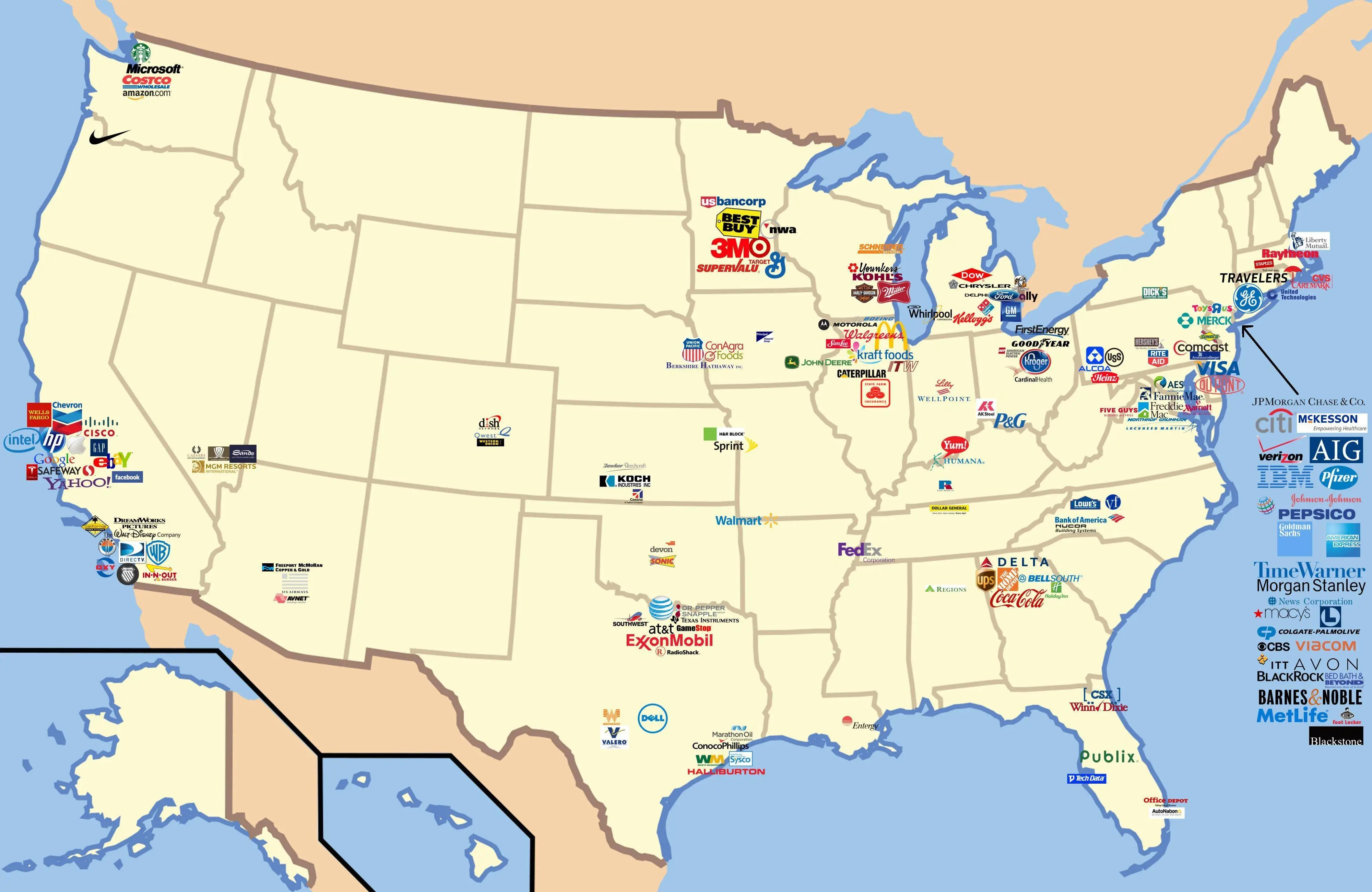 American companies are the envy of the world. Here's where they're based.