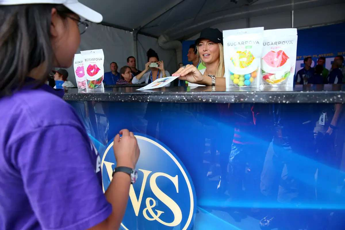 """She threatened to change her name to """"Maria Sugarpova"""" to promote the candy, but ultimately decided against it"""