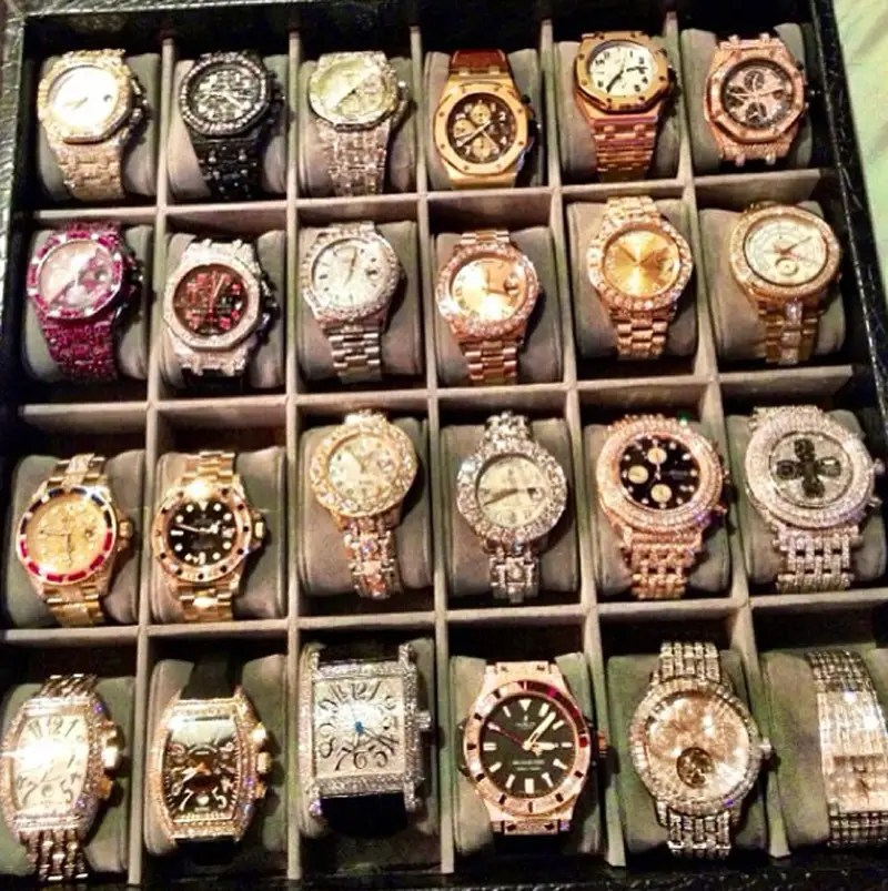 His $6.4 million watch collection.