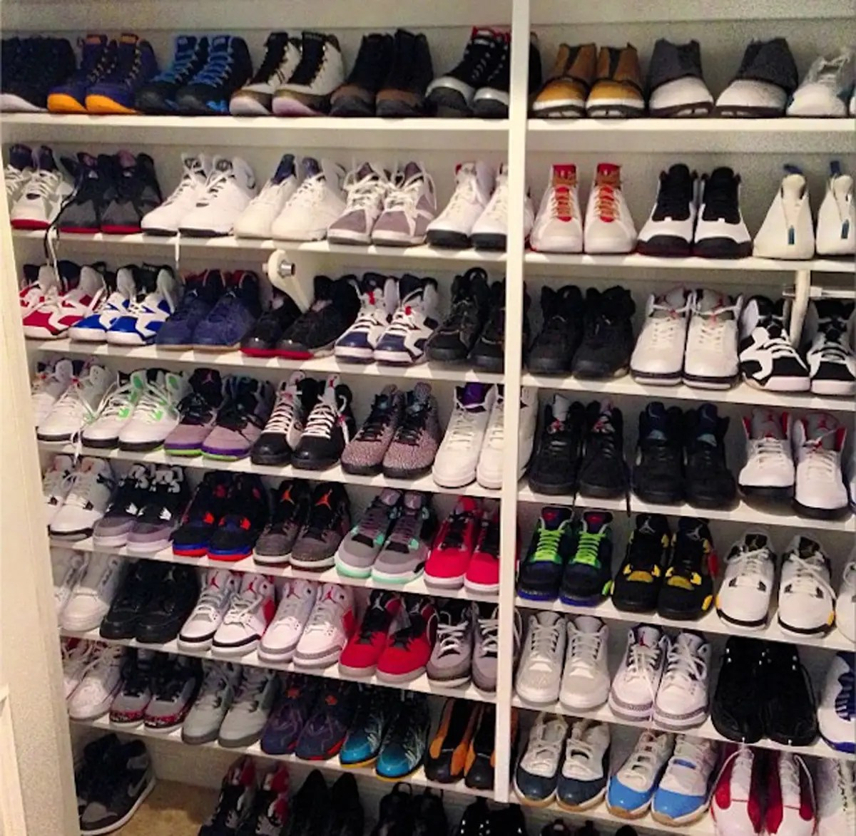 He takes great pride in his personal shoe collection of over 2,000 pairs of shoes in his closet.