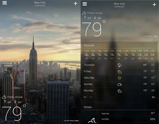 Before you head out into the great, wide world, make sure you know what to expect from the skies with Yahoo Weather.