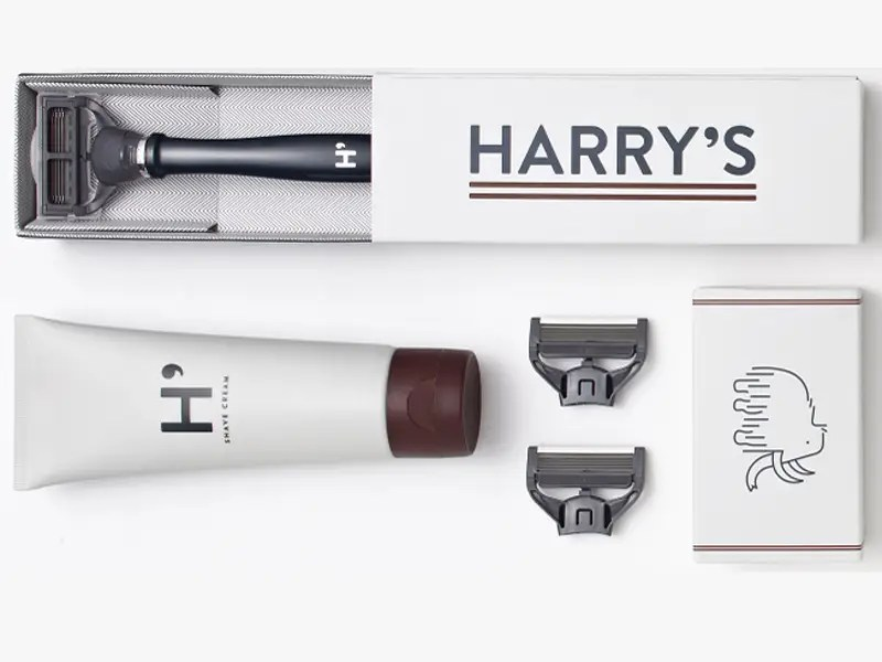 harry's truman shaving set blue