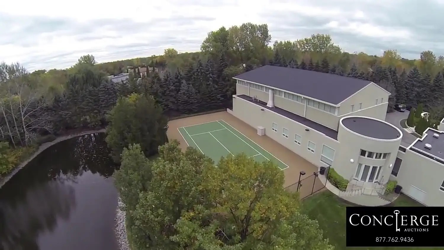 The outdoor space is spectacular. There's a tennis court.