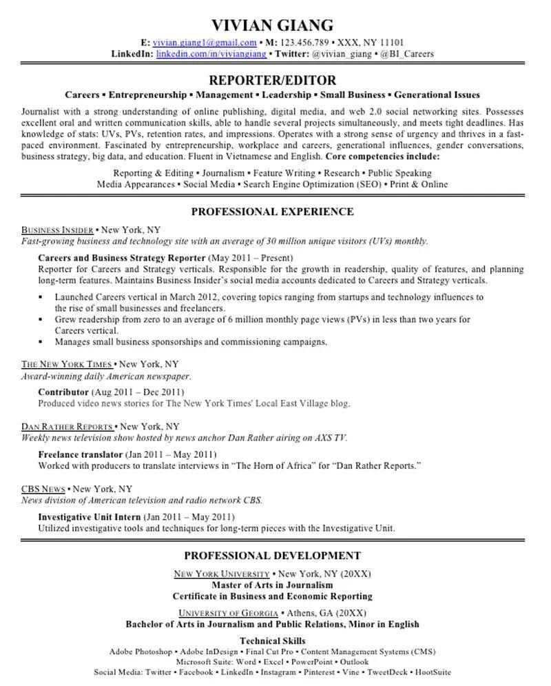 resume professional memberships