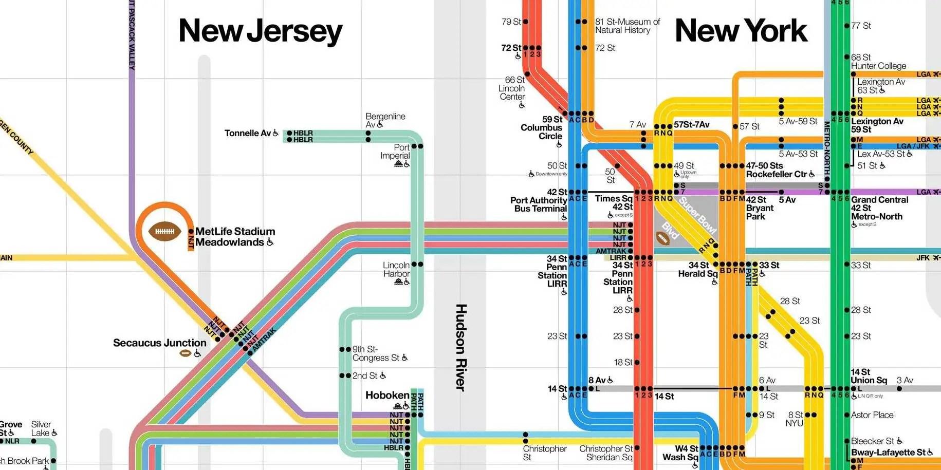 Path Train Map Nj Transit