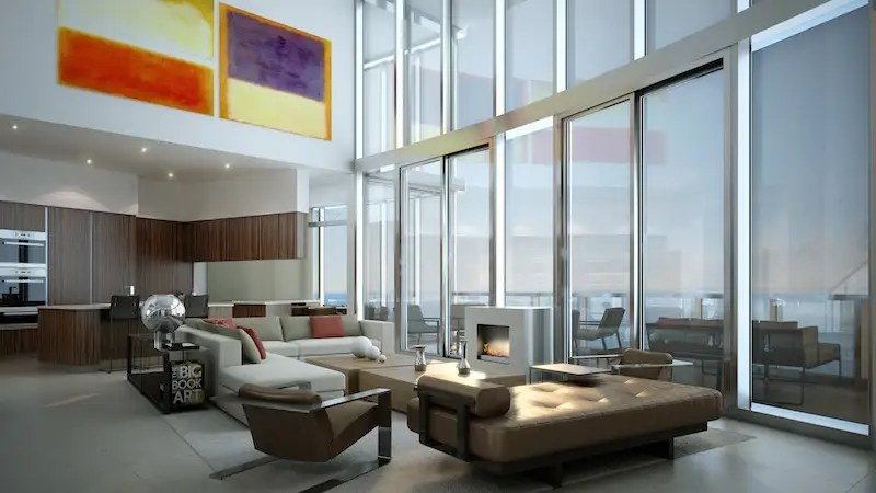 Plus tall glass windows and wide balconies make for the ideal shoreline view.