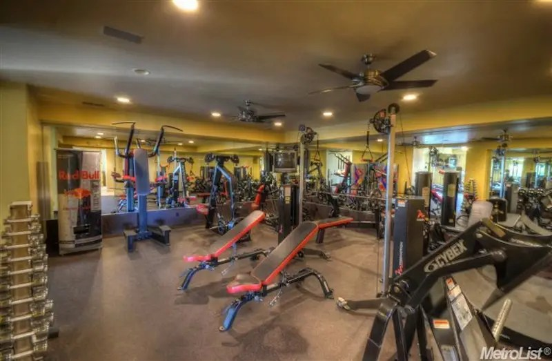 The 1,200-square-foot gym even has a sauna and steam room.