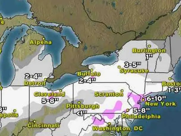 Weather Channel Map