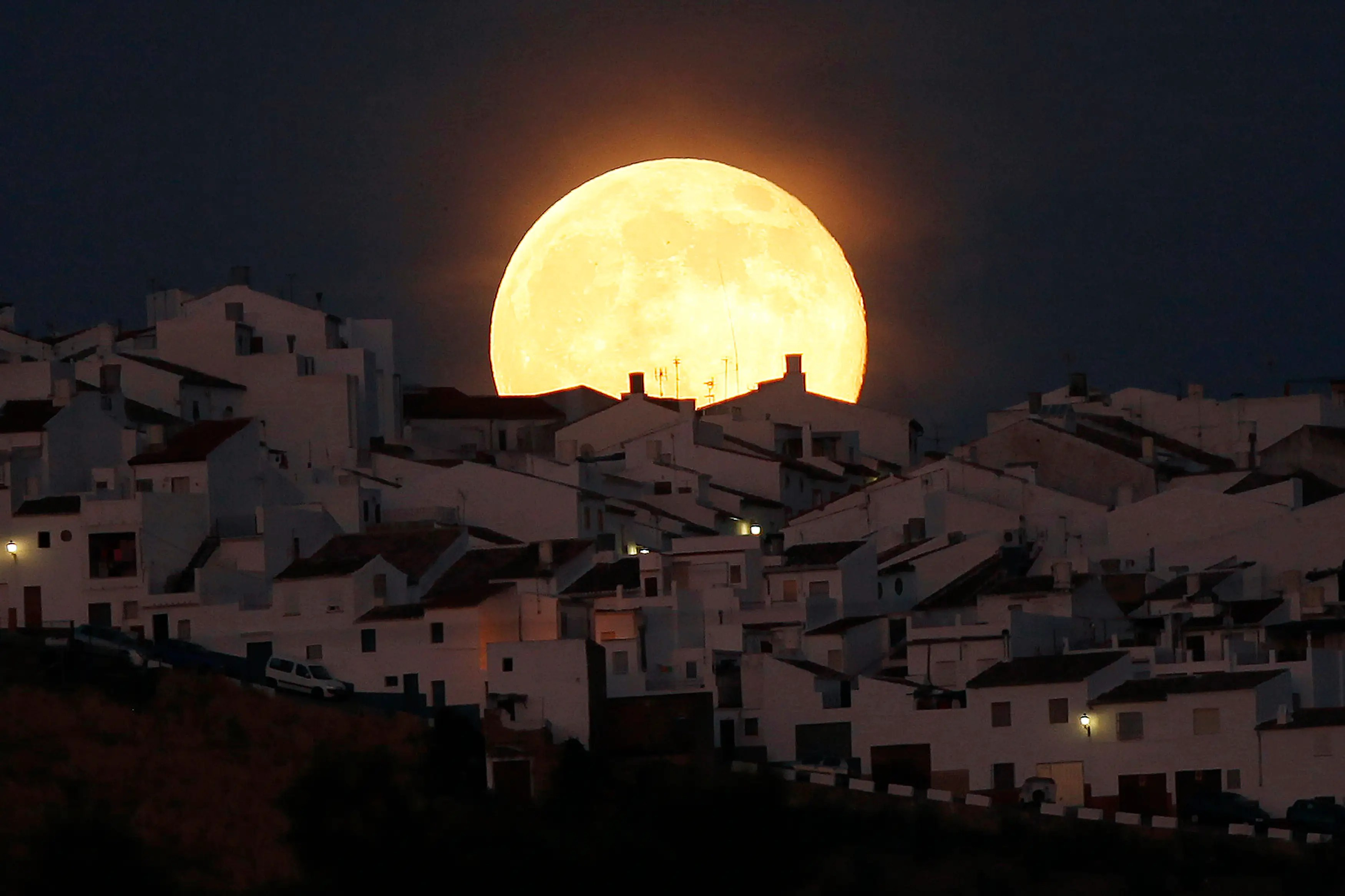 On Saturday, July 12, a supermoon rose over the Earth. Here it is over Olvera, Spain.