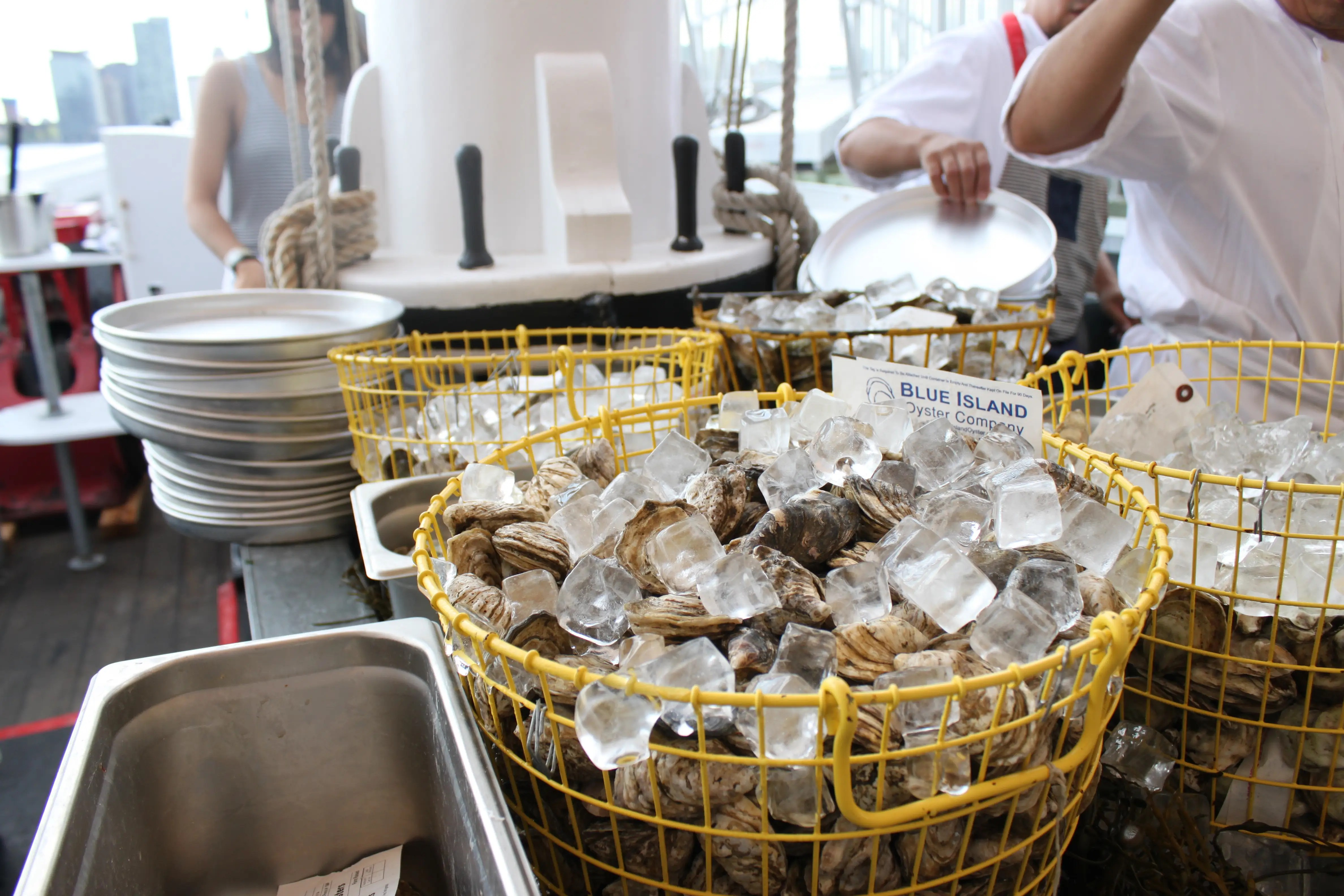 The oysters are all sustainably sourced from various areas around the Pacific and Atlantic oceans, and trust us, they are delicious.