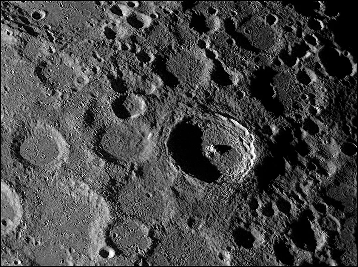 "In the category of ""Our Solar System,"" the runner up was this image by George Tarsoudis of Tycho, a crater on our moon which can be seen easily from Earth and boasts a diameter of 53 miles."