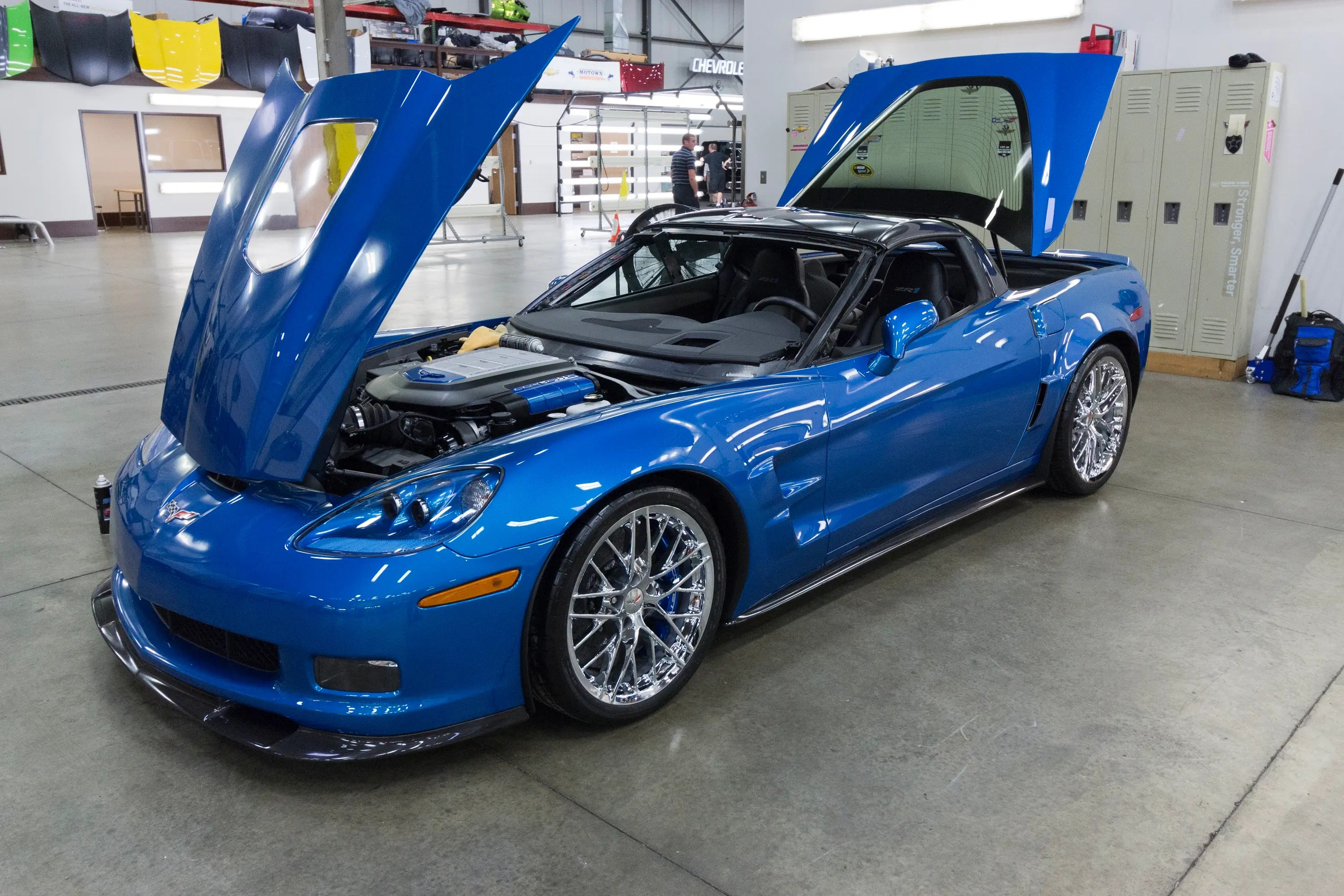 This rare 2009 Corvette ZR-1 was recovered from the sinkhole at the Corvette Museum and restored to its previous glory.