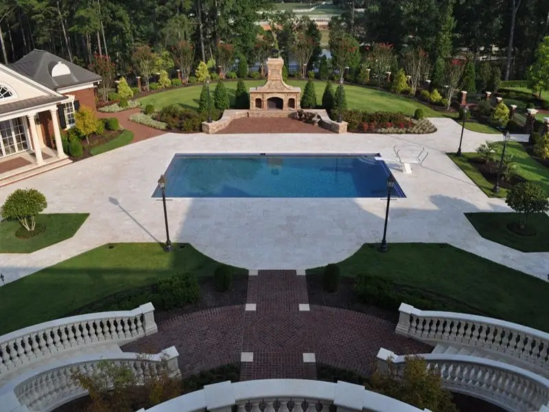 Out back the luxurious amenities don't diminish at all. Curving staircases take you down from the main house to...