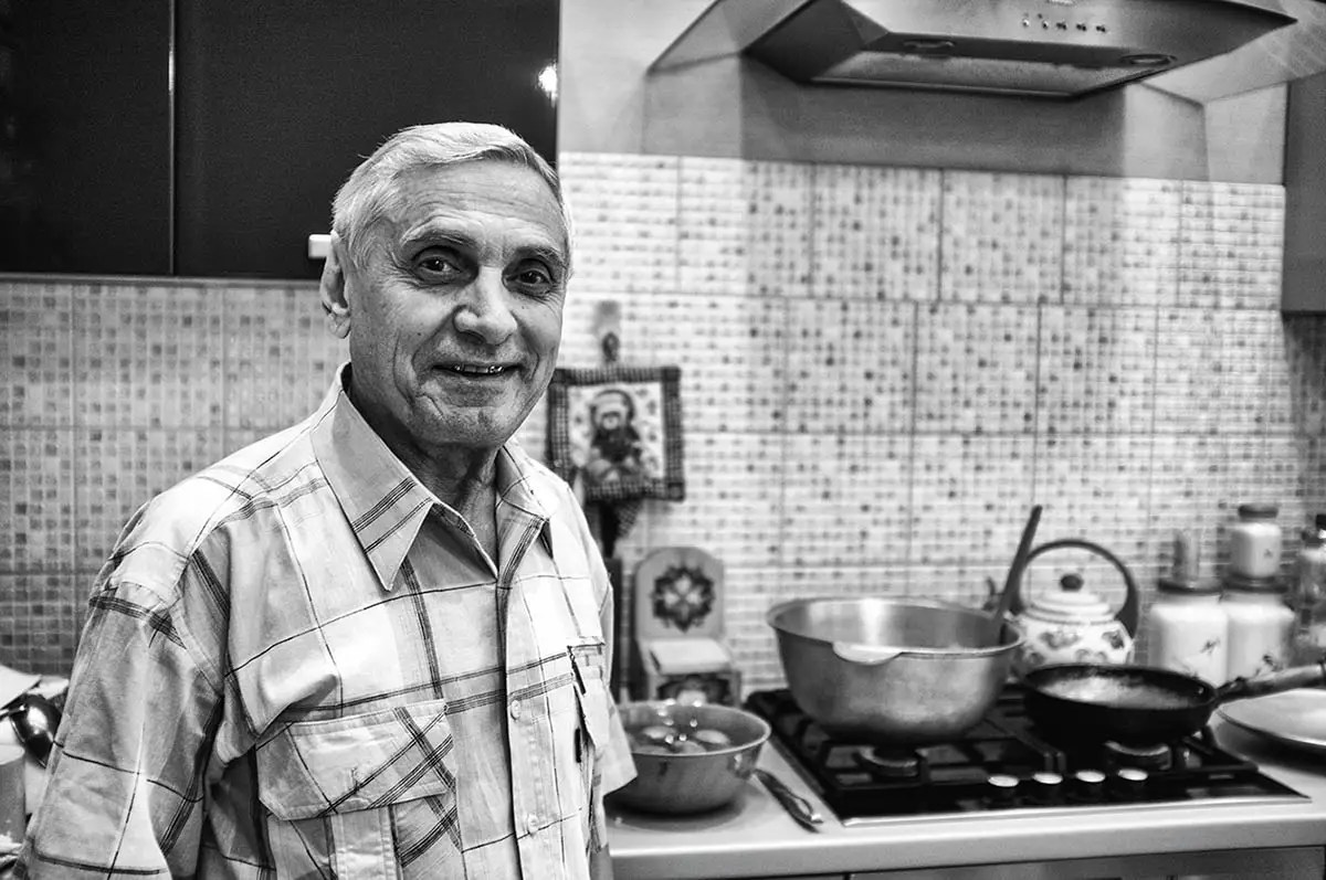 "Albert, age 69. Profession: Cook. Passion or Dream: ""I wish to see my grandchildren's weddings and I want my daughter to be happy. And I love cooking."""