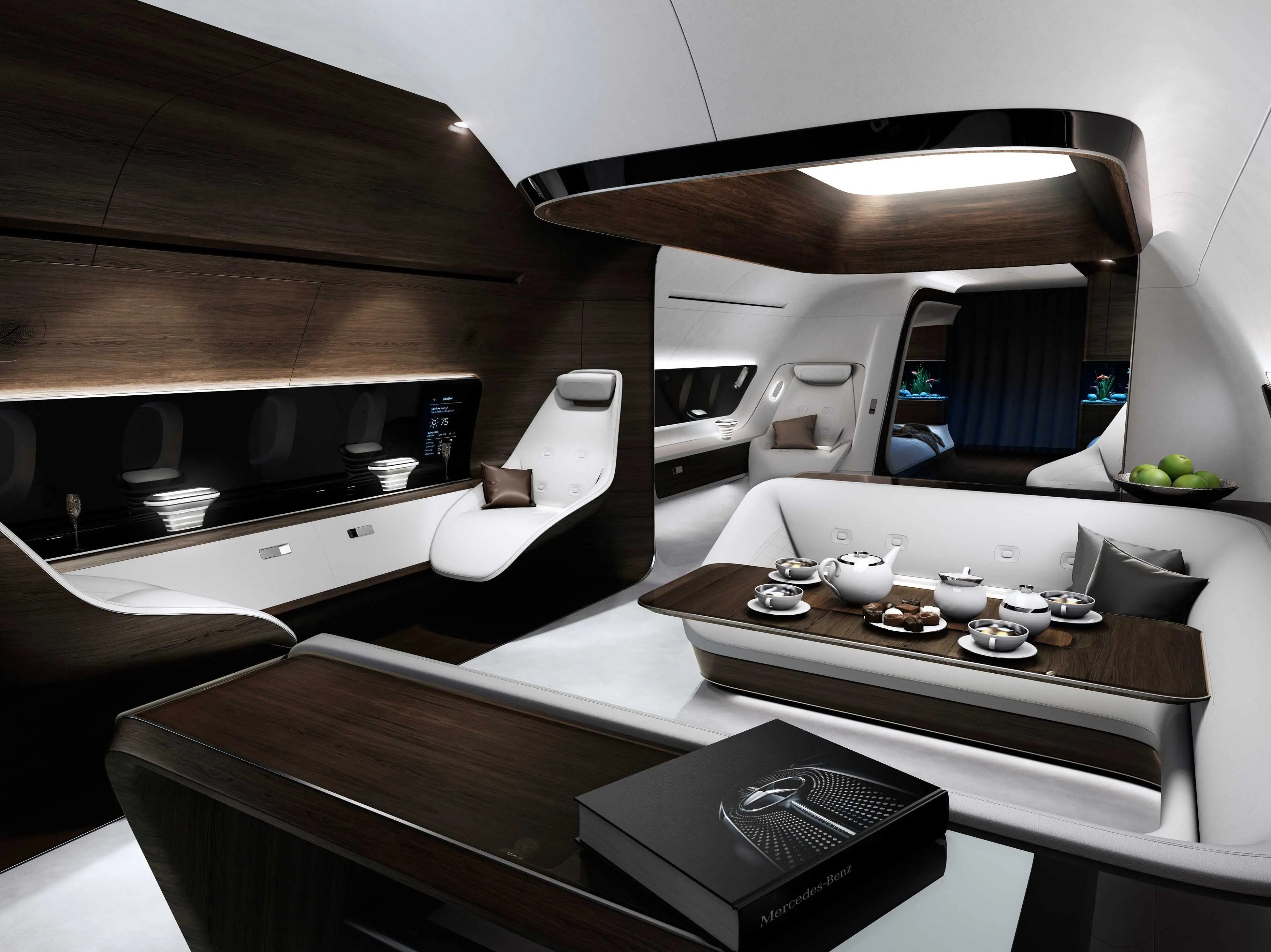 Lufthansa Mercedes Airplane Interior