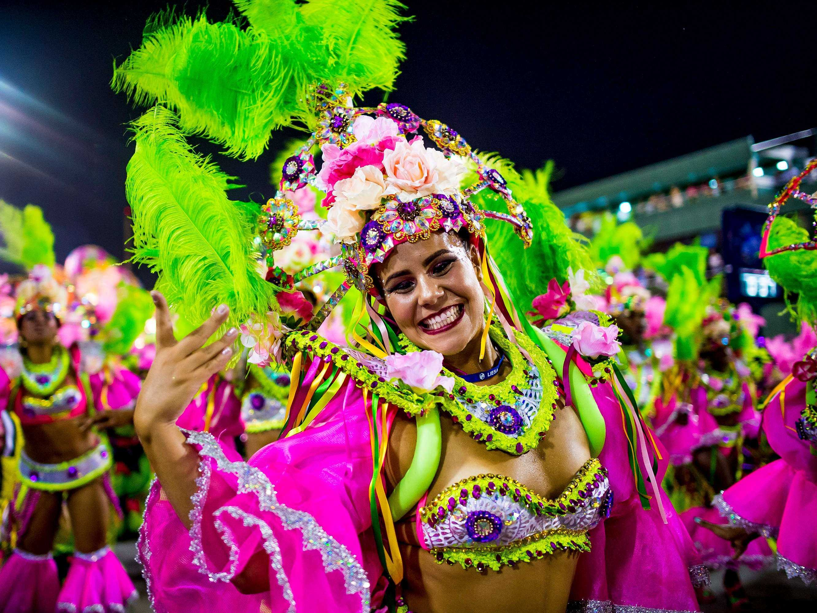 Party at the world's biggest Carnival celebration in Rio de Janeiro, Brazil.