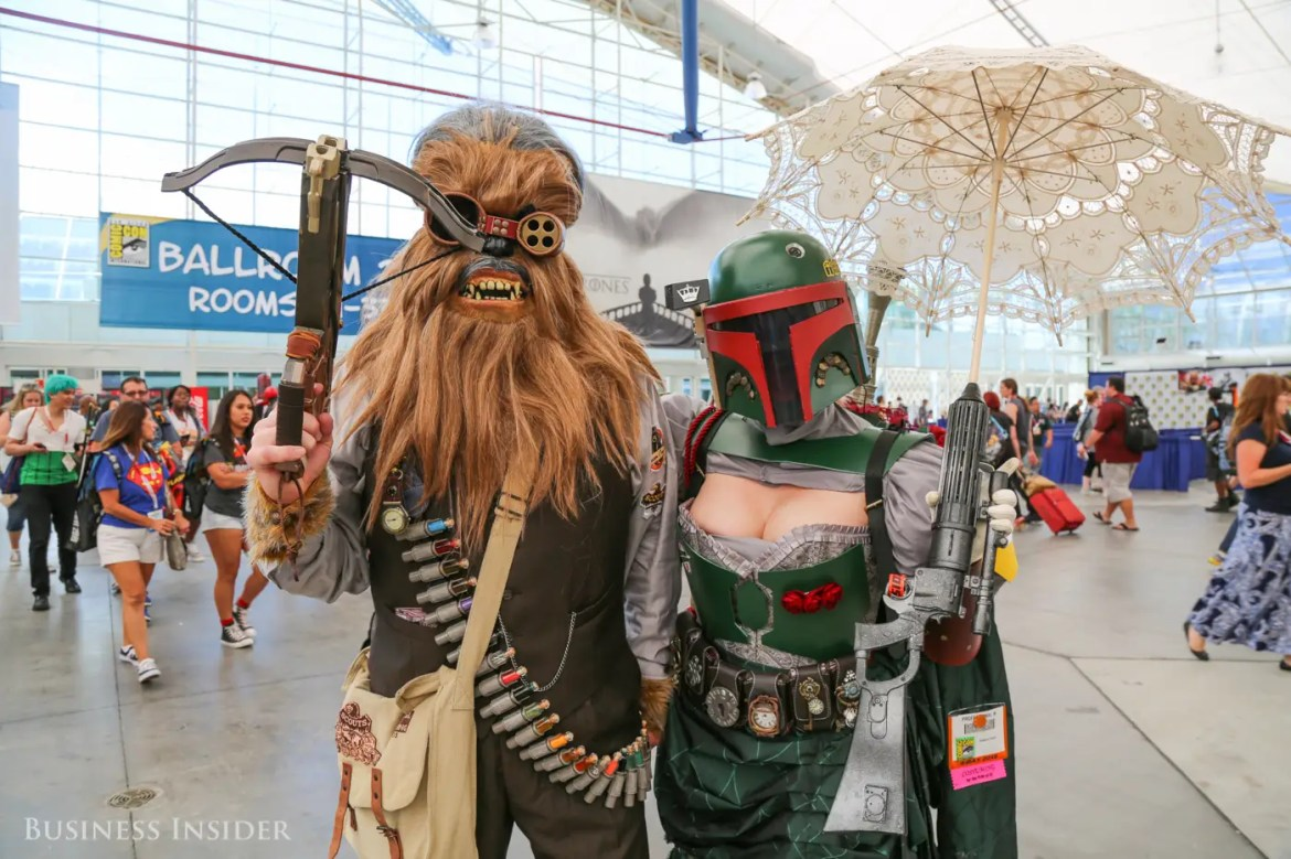 "It's no surprise ""Star Wars"" has a monster presence at the Con, with stars of the coming sequel in attendance. Chewbacca and Boba Fett get a Steampunk makeover."
