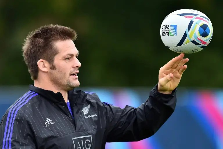 New Zealand captain Richie McCaw is hoping to lead the All Blacks to back-to-back World Cup titles