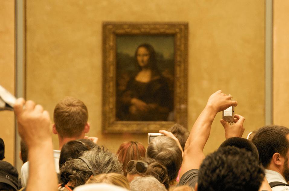 La Mona Lisa de Léonard de Vinci au Musée du Louvre à Paris, en France.