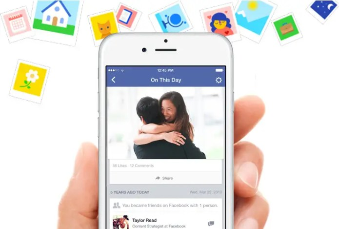 3. See your Facebook activity on the same day from years past.