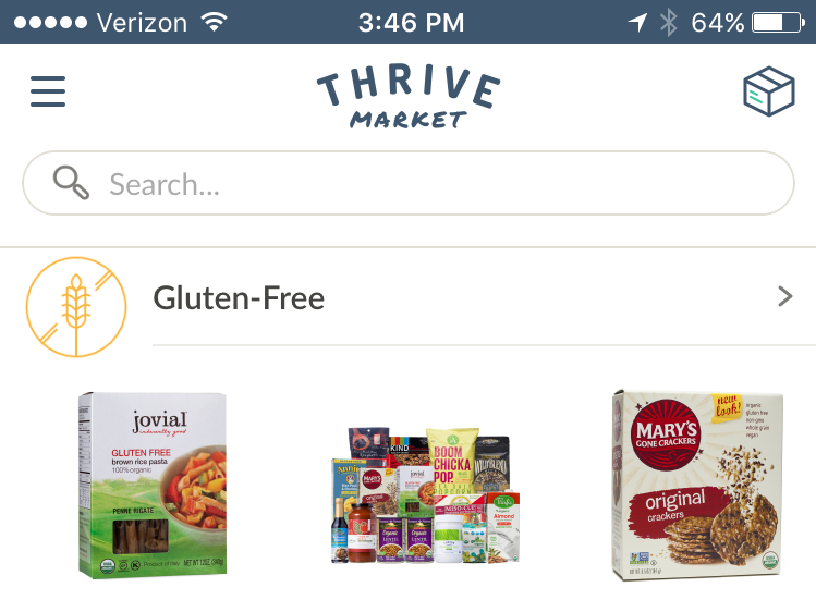 Buy organic foods for 25% to 50% off with Thrive Market.