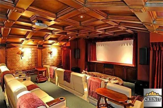 A screening room to fit plenty of friends.