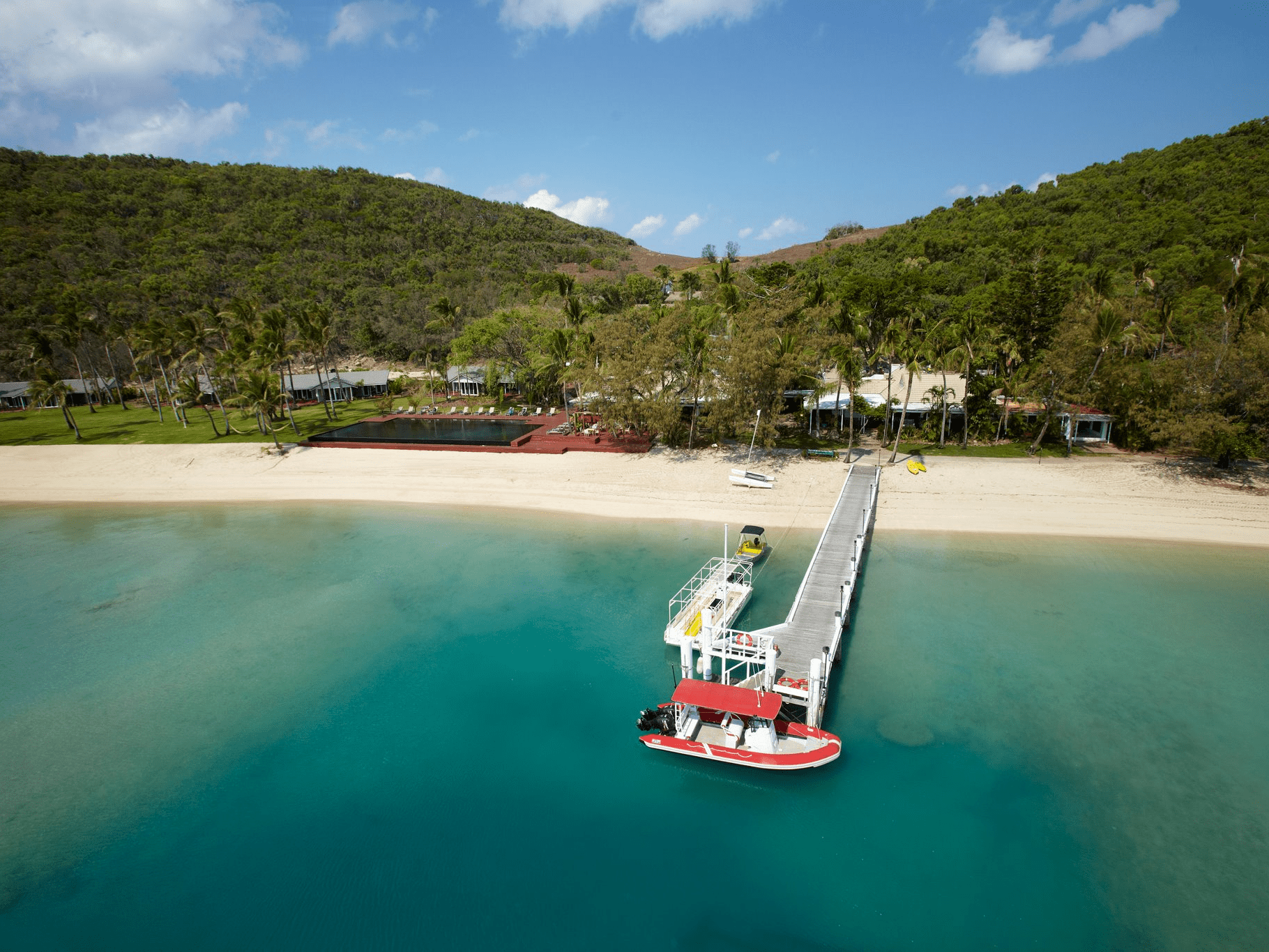 Stay on the waters of the Great Barrier Reef at Australia's Orpheus Island, which only hosts 28 guests at any given time. With experiences like a candlelit dinner on the pier, travelers will feel like they're in their own private paradise. There's also a diving site where you can see thousands of marine species up-close.