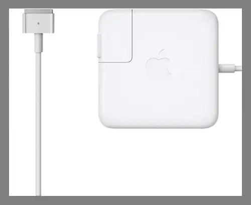 A spare laptop charger