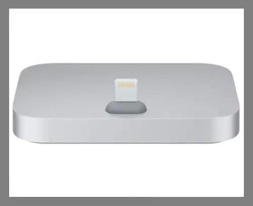 An iPhone dock