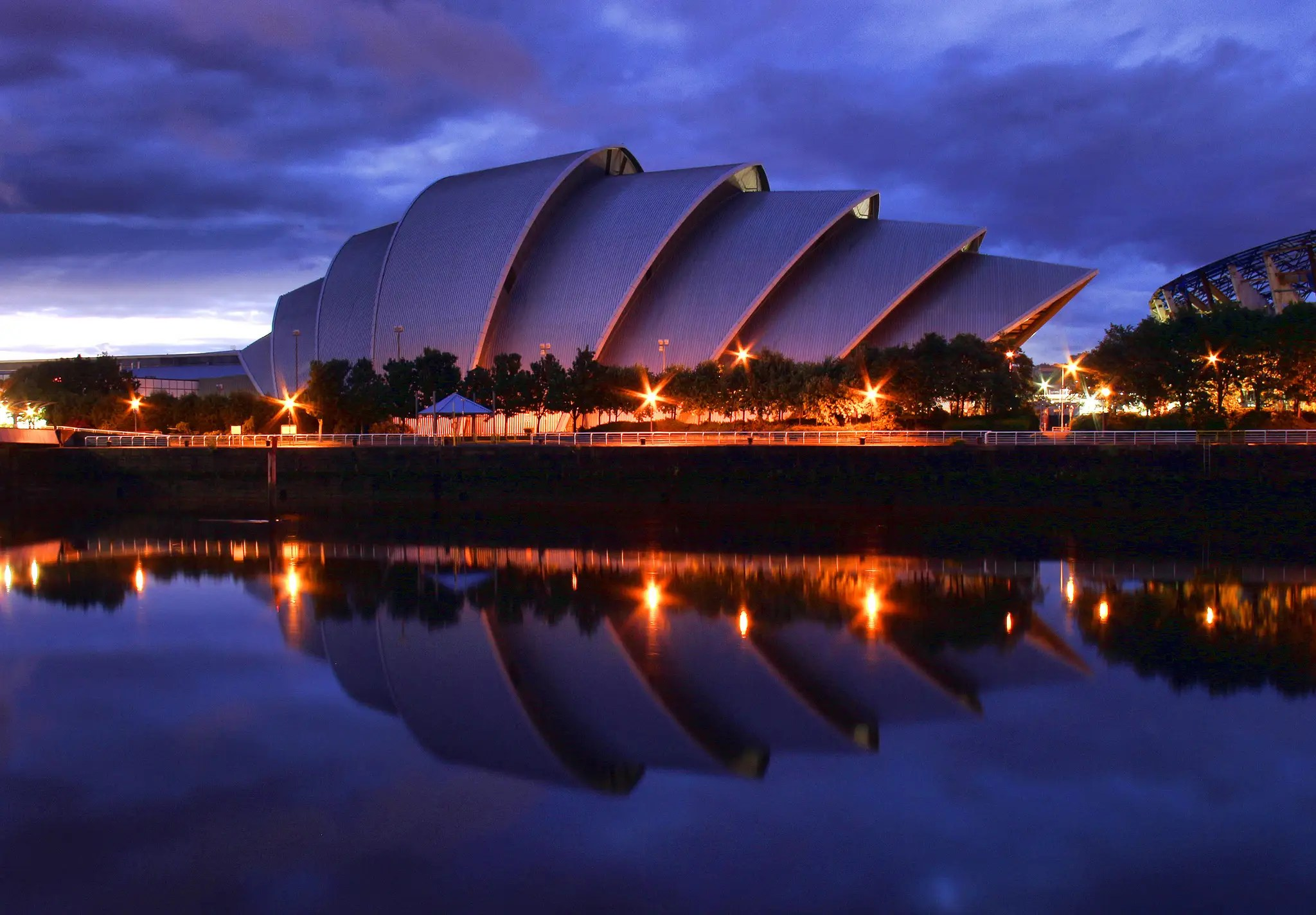 "46. The Clyde Auditorium, or ""The Armadillo,"" in Glasgow the most stylish place to enjoy a concert north of the border."