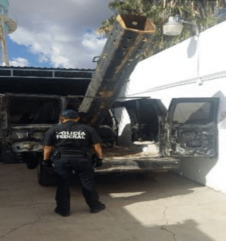 Mexico drug cannon US border