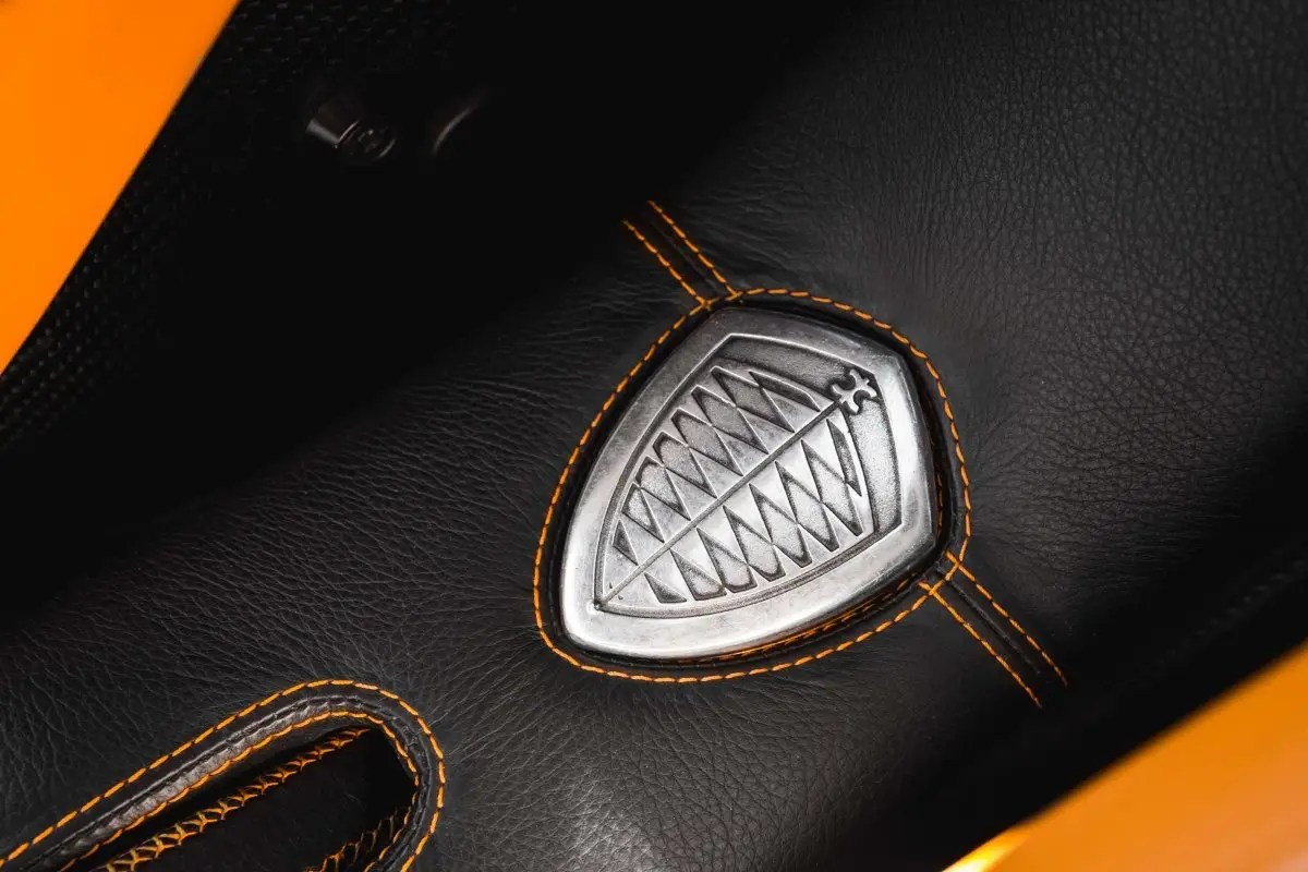 Koenigsegg's shield fob looks like something a superhero would carry.