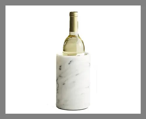 A marble wine cooler