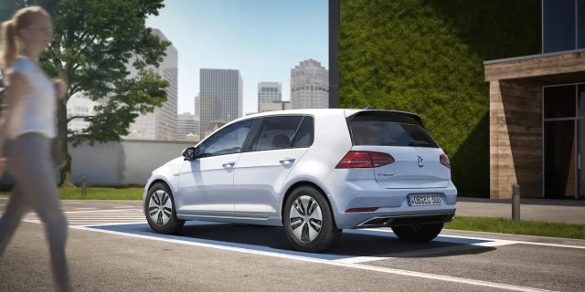 The e-Golf's electric motor has been upgraded to give the car an output of 134 hp and 214 lb-ft of torque.