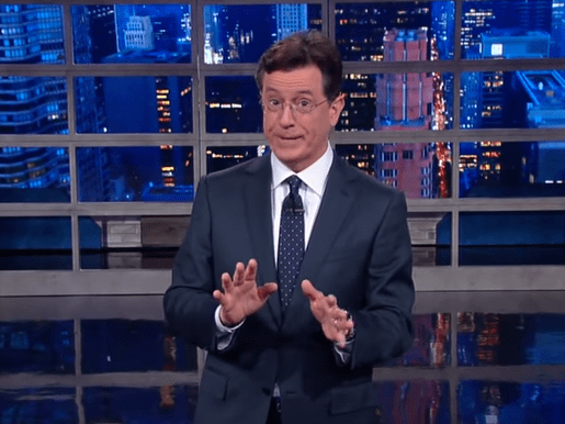 Image result for Stephen Colbert gay joke