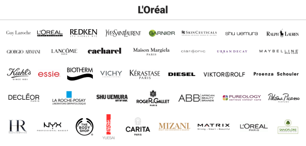 Loreal brands