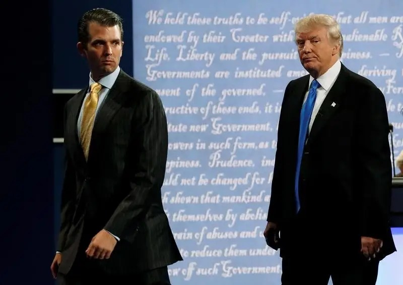 Image result for photos of trump and trump jr