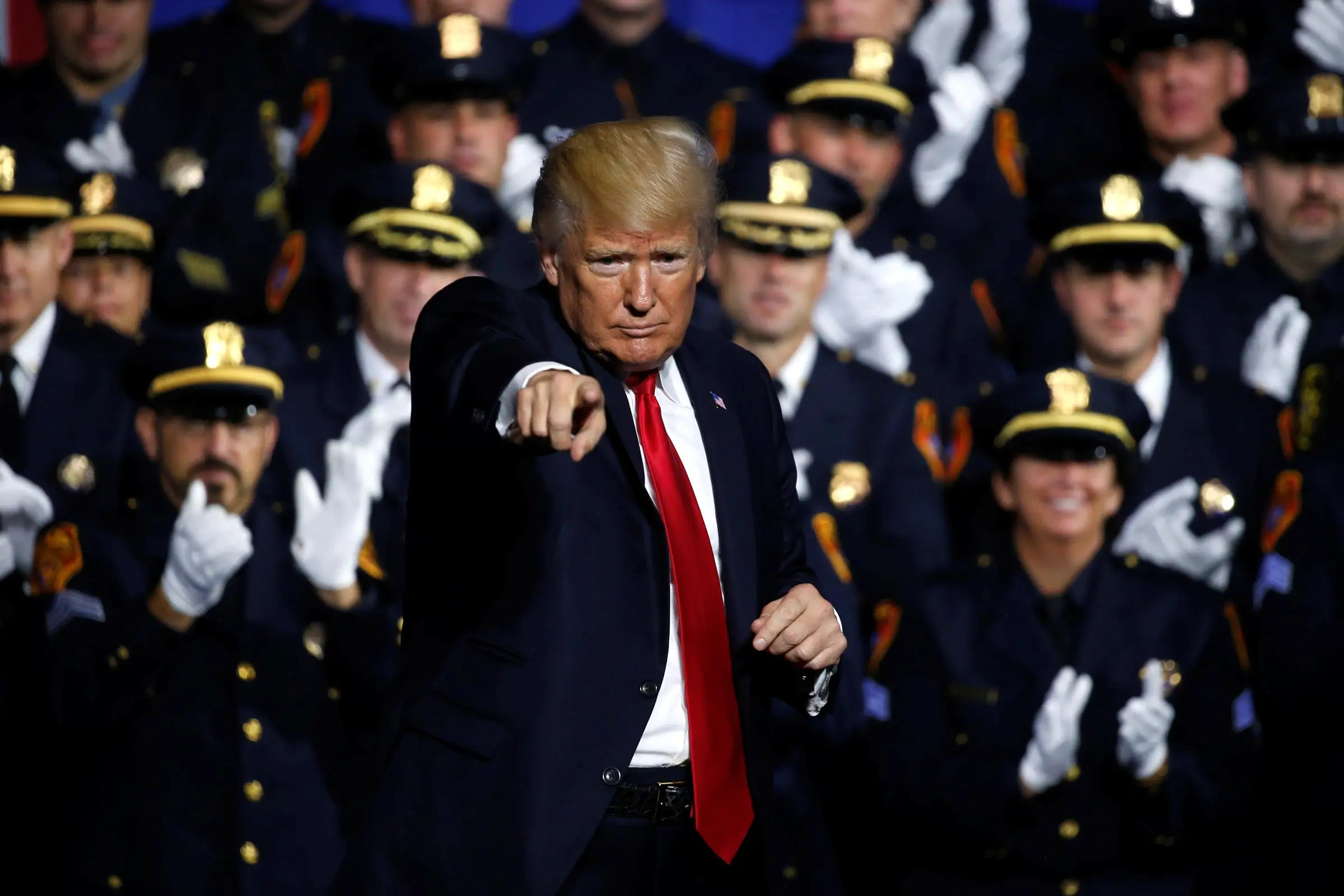 Donald Trump Long Island cops police speech