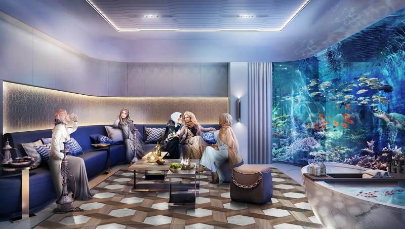 The underwater portion, composed of a master bedroom and bathroom, will make up approximately 270 square feet on the interior. Just outside the walls is a 500-square-foot coral garden.