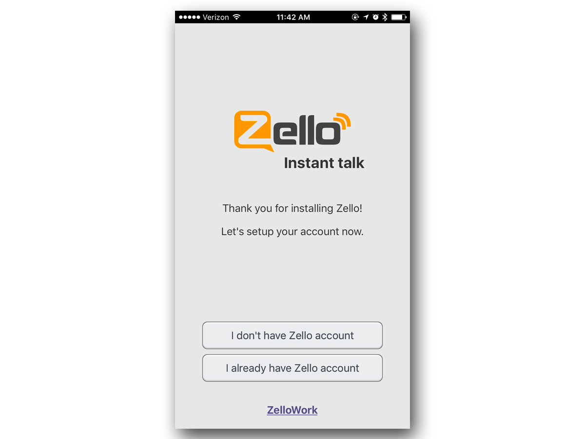 Zello is free to use and doesn't have ads. To start using the app, though, you'll need to make an account.