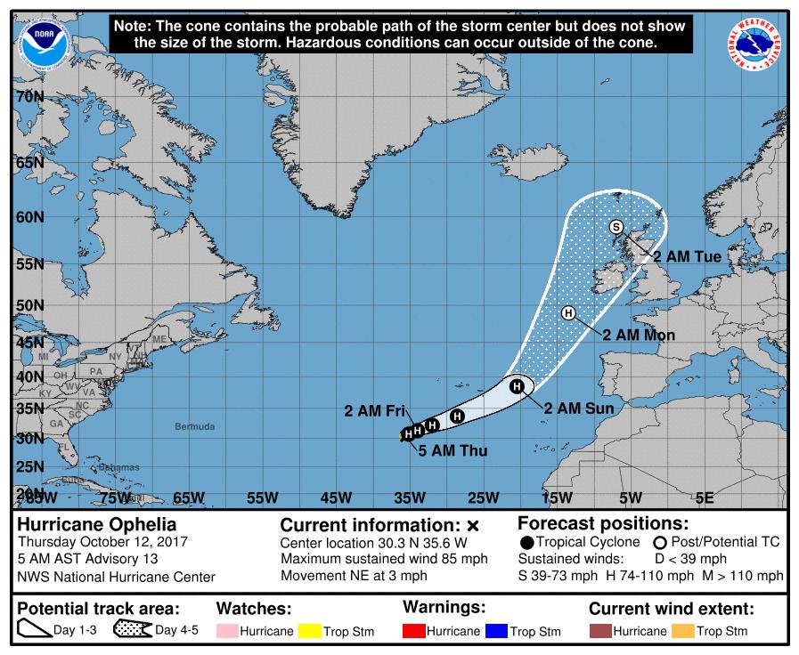 hurricane ophelia huracan tormenta