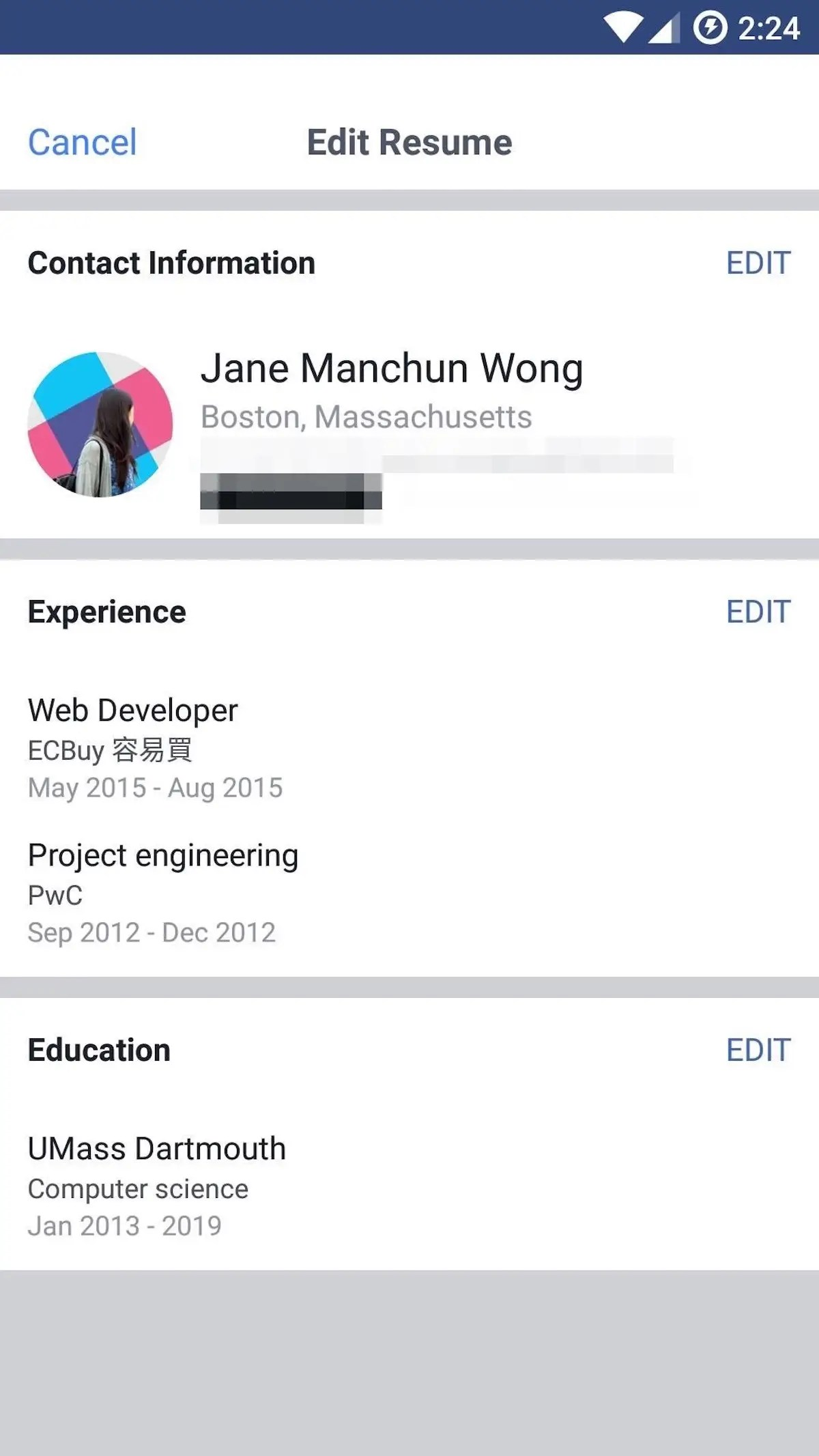 Print Resume From Linkedin Facebook Tests Resume Feature To Take On Linkedin