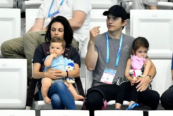 Mila Kunis Ashton Kutcher Kids