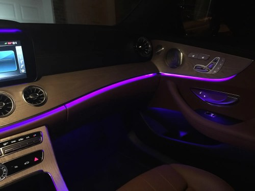 small resolution of does anyone know what type of lighting manufactures are using in newer cars to create this wall washing effect is it just an led with a light pipe or